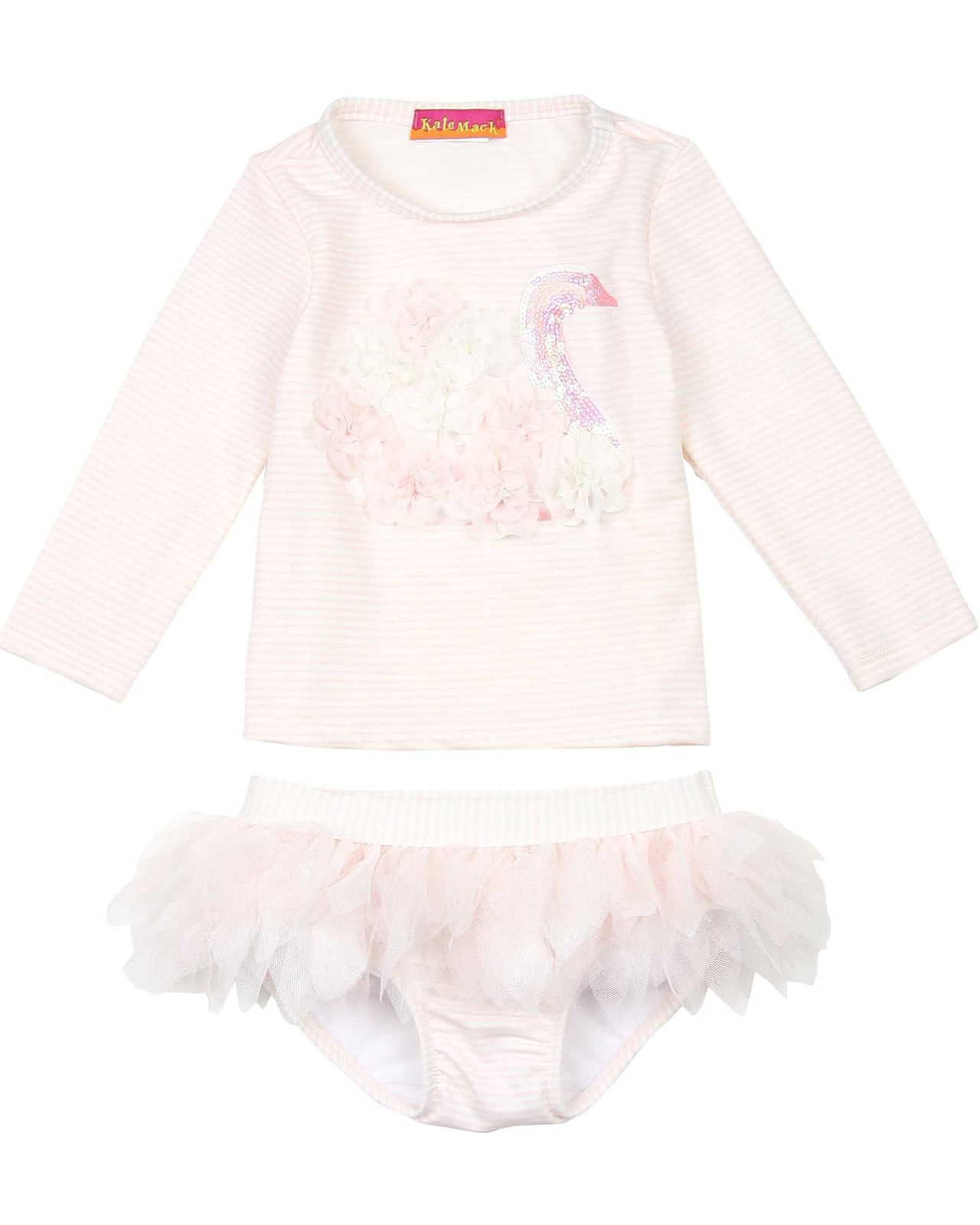 Details about  /Kate Mack Girls/' Rush Guard and Bottom Picnic Roses Sizes 2-6
