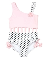 Kate Mack Girls Girlish Charm Two Colour-way Swimsuit