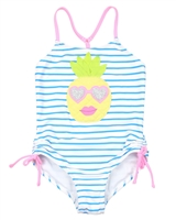 Kate Mack Girls Tropical Sensation Striped Swimsuit