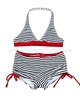 Kate Mack Girls Bateau L'Amour Two-piece Boy-short Swimsuit