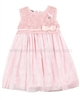 Le Chic Baby Girl Tulle Dress with Guipure Top Pink