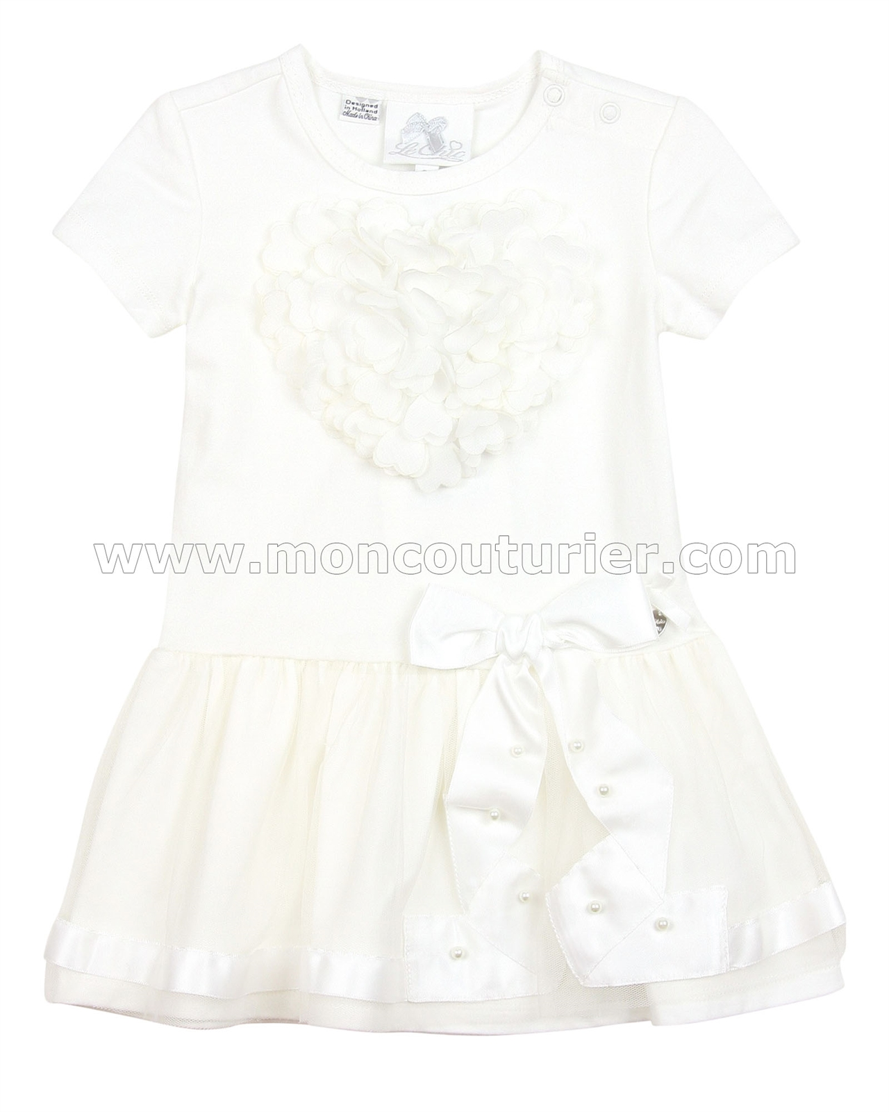 Le Chic Baby Girl Dress with Heart Le Chic Le Chic Spring 2016