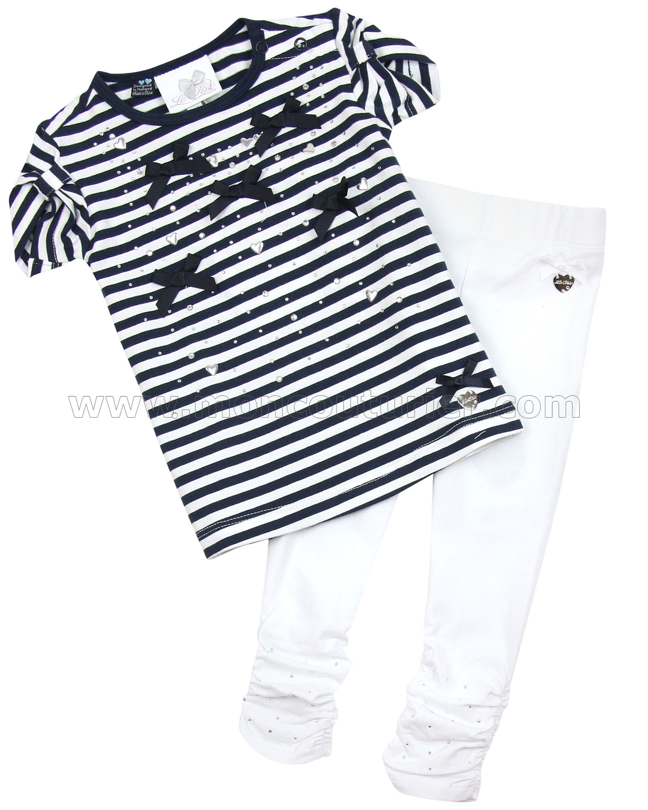 dbe762fbd Le Chic Baby Girl T-shirt with Bows and Leggings - Le Chic - Le Chic ...