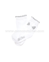 Le Chic Baby Girl Socks with Bow White