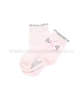 Le Chic Baby Girl Socks with Bow Pink