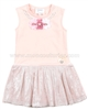 Le Chic Baby Girl Dress with Flowers Peach