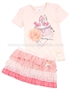 Le Chic Baby Girl T-shirt with Print and Ruffled Skirt