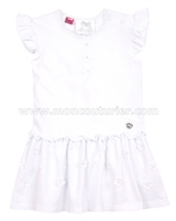 Le Chic Baby Girl Jersey Dress White