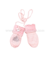 Le Chic Baby Girl Mittens Peach