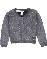 Le Chic Baby Girl Dark Gray Cardigan with Crystals