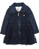 Le Chic Baby Girl Coat with Tulle Overlay