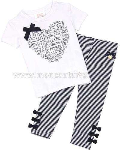 e527f5c29 Le Chic Baby Girl T-shirt and Striped Leggings Set - Le Chic - Le ...