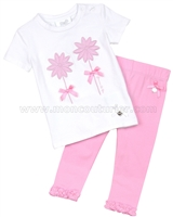 Le Chic Baby Girl Pink T-shirt and Leggings Set