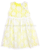 Le Chic Baby Girl Embroidered Organza Dress