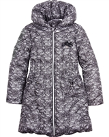 Le Chic Puffer Coat in Lace Print