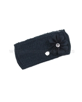 Le Chic Knit Headband Navy