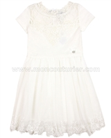Le Chic Embroidered Tulle Dress Ivory