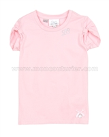Le Chic T-shirt Gathered Sleeves Pink