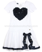 Le Chic Dress with Heart White