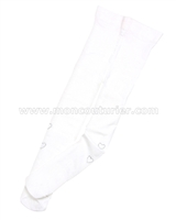 Le Chic Nylon Tights with Rhinestones White