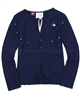 Le Chic Jersey Cardigan with Flowers Navy