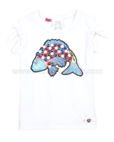 Le Chic T-shirt with Fish White