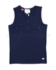 Le Chic Tank Top with Flowers Navy