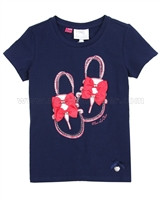 Le Chic T-shirt with Shoes Navy