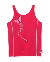 Le Chic Tank Top with Butterfly Raspberry