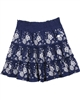 Le Chic Embroidered Skirt Navy