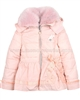 Le Chic Puffer Jacket with Satin Bow Peach