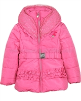 Le Chic Puffer Jacket with Shawl Collar Hot Pink