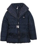 Le Chic Puffer Jacket with Shawl Collar Navy