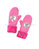 Le Chic Mittens Hot Pink