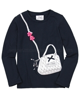Le Chic T-shirt with Purse Applique
