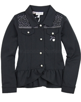 Le Chic Ponti Jacket with Ruffles