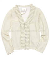 Le Chic Girls' Cardigan with Ruffle