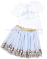 Le Chic Girls' T-shirt and Tulle Skirt Set