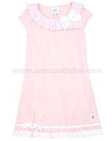Le Chic Girls' Pink Jersey Dress