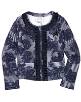 Le Chic Girls' Jacquard Cardigan