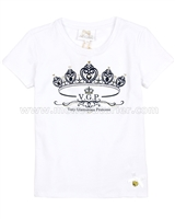 Le Chic Girls' T-shirt with Crown