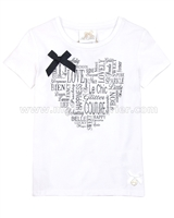 Le Chic Girls' T-shirt with Bow