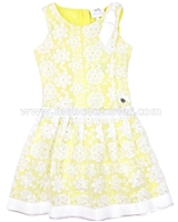 Le Chic Girls' Embroidered Organza Dress