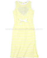 Le Chic Girls' Yellow Jersey Dress