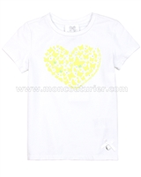 Le Chic Girls' T-shirt with Heart Yellow