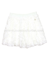 Le Chic Girls' Skirt with Chiffon Ruffles