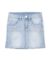 Le Chic Girls' Denim Mini Skirt