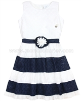 Le Chic Girls' Eyelet Dress