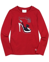 Le Chic T-shirt with Shoe Red