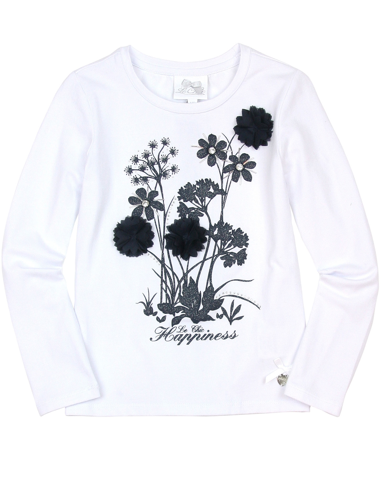 Le chic girls long sleeve top with flowers le chic le chic click mightylinksfo